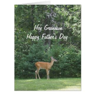 Carte Cerfs communs heureux   de fête des pères de