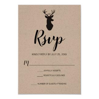 Carte Cerfs communs rustiques Papier d'emballage