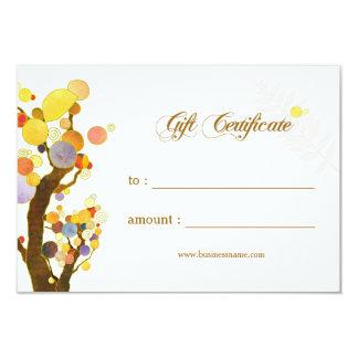 Carte Certificat-prime d'affaires d'arbres de Nouveau