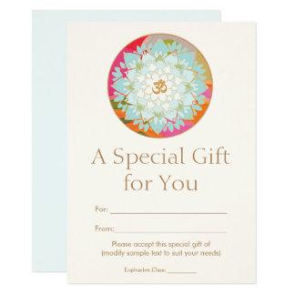 Carte Certificat-prime spirituel de santé de fleur de