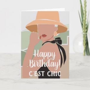 Carte C'est Chic Française, un joyeux anniversaire