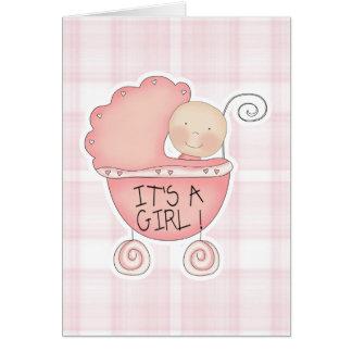 Carte C'est des félicitations d'un boguet de bébé de