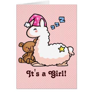 Carte C'est un lama de fille !