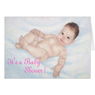Carte C'est un rose Invitaion de baby shower