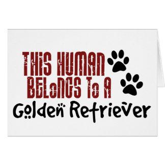 Carte Cet humain appartient à un golden retriever