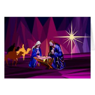 """Carte """"Cette nuit sainte"""" personnalisable"""