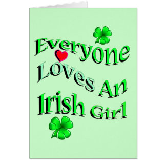 Carte Chacun aime une fille irlandaise