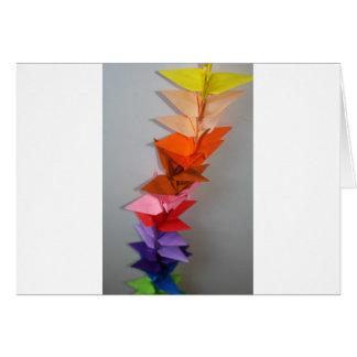 Carte chaîne de grue d'origami
