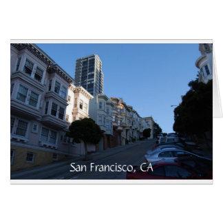 Carte Chambres sur une rue à San Francisco, la