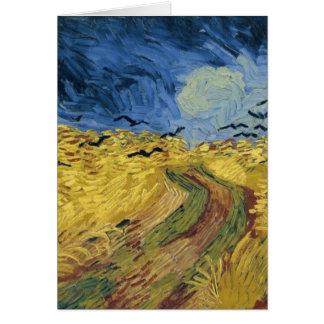 Carte Champ de blé de Vincent van Gogh avec les