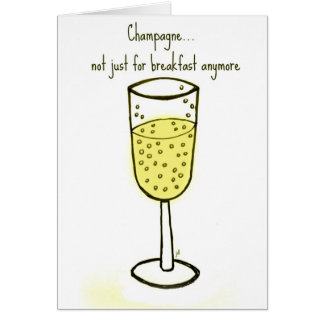 Carte Champagne… pas simplement pour le petit déjeuner