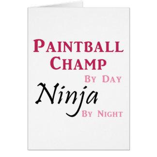 Carte Champion/Ninja de Paintball