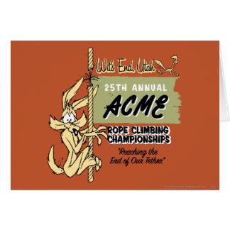 Carte Championnats d'escalade d'E. Coyote Rope de Wile