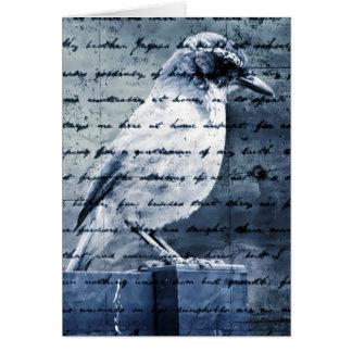 Carte Chanson bleue d'oiseau