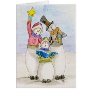 Carte Chant de bonhommes de neige