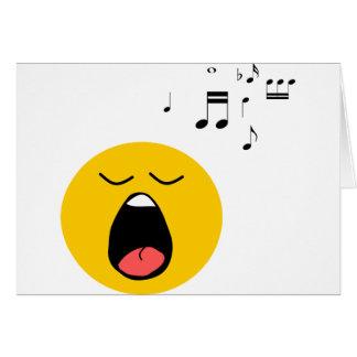 Carte Chanteur souriant
