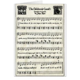 Carte Chants de Noël : La Carol des enfants