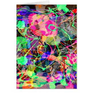 Carte Chaos créatif coloré