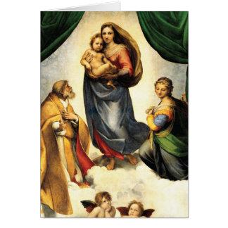 Carte Chapelle C. 1513-14 de Madonna Sistine de Rafaël