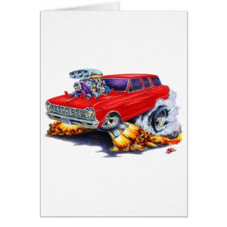 Carte Chariot 1962-65 de rouge de nova