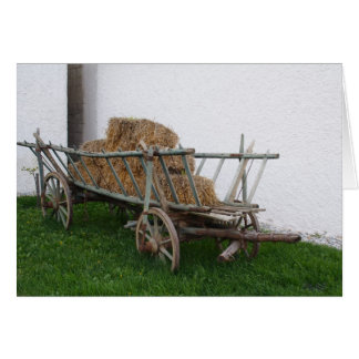 Carte Chariot de foin