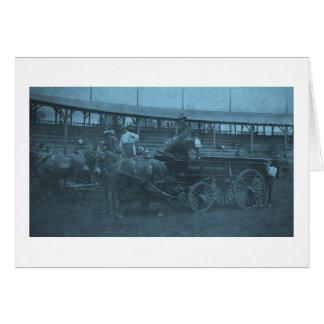 Carte Chariot hippomobile de brasserie vintage