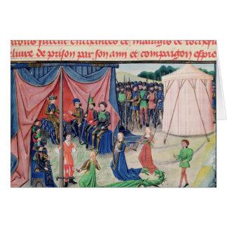 Carte Charlemagne et ses barons étant enchantés