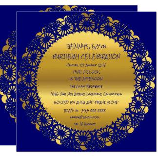Carte Charme d'or de dentelle de Marie de fête