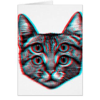 Carte Chat 3d, 3d chat, chat noir et blanc