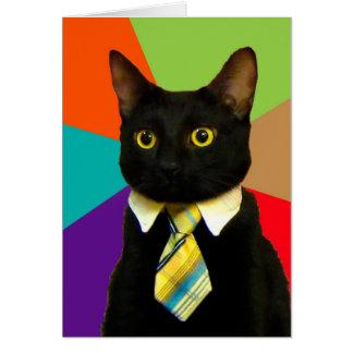 Carte chat d'affaires - chat noir