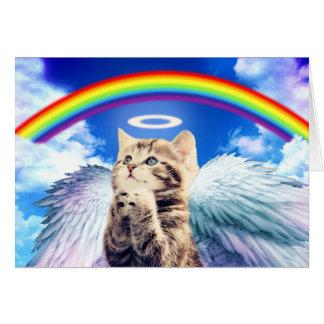 Carte chat d'arc-en-ciel - prière de chat - chat - chats