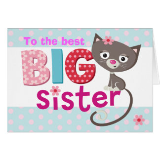 Carte Chat de GRANDE soeur
