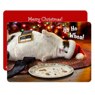 Carte Chat de la photo   Père Noël et biscuit faits sur