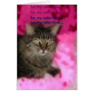 Carte chat de valentine