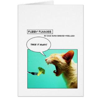 Carte Chat et brocoli velus de ~ de Funnies