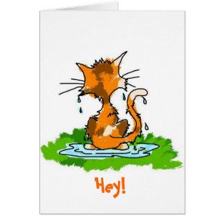 Carte Chat grincheux