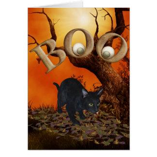 Carte Chat noir de Halloween