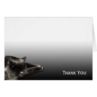 Carte Chat noir de sommeil sur le gradient noir