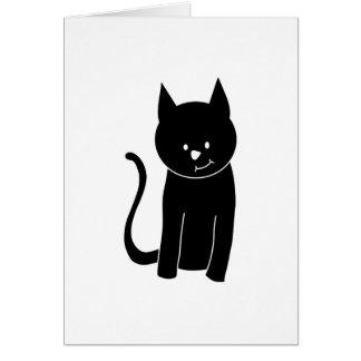 Carte Chat noir mignon