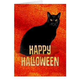 Carte Chat noir pour Halloween