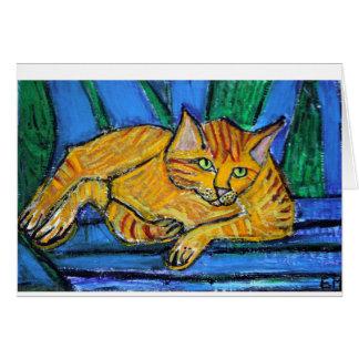 Carte Chat orange