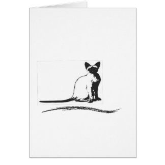 Carte chat siamois design.ai de zazzle