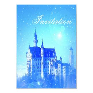 Carte château de conte de fées de partie de princesse