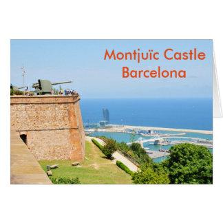 Carte Château de Montjuic, Barcelone