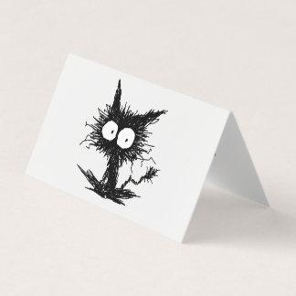 Carte Chaton mal peigné noir GabiGabi