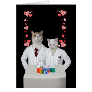 Carte Chats drôles personnalisables de chimie