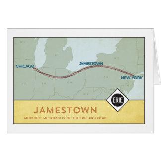 Carte Chemin de fer d'Erie
