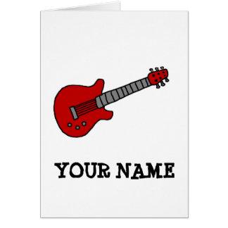 Carte Chemise customisée de guitare pour des garçons ou