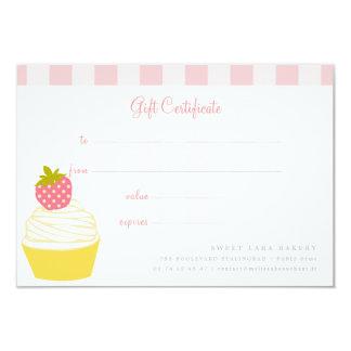 Carte Chèque-cadeau mignon de rétros petits gâteaux doux