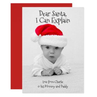Carte Cher Père Noël je peux expliquer Noël personnalisé